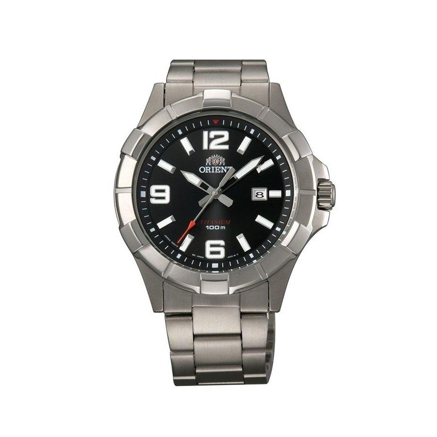 reloj hombre Orient Sports watch TITANIUM cuarzo FUNE6001B