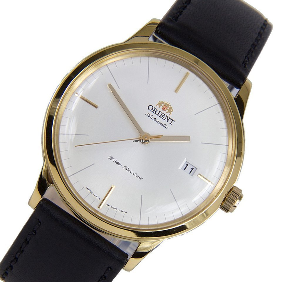 Reloj hombre automático Orient BAMBINO FAC0000BW dorado correa piel