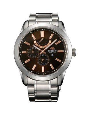 "reloj hombre automático Orient FEZ08002T Power Reserve ""chocolate"" Cristal de zafiro correa acero"