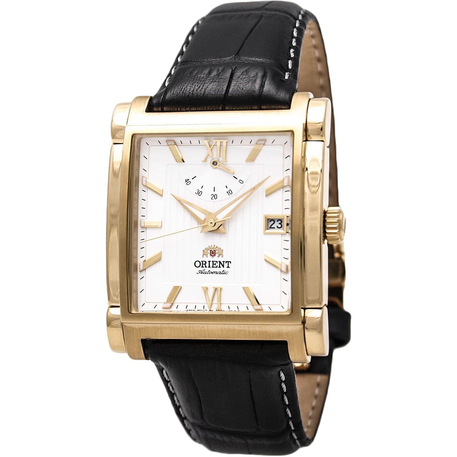 reloj hombre automático Orient FFDAH002W Power Reserve dorado correa cuero