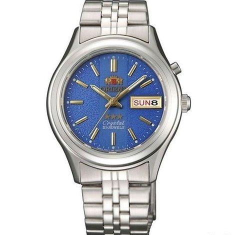 Reloj hombre automático Orient 3 Star FEM0301XD AZUL correa acero
