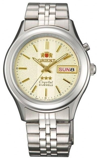 Reloj hombre automático Orient 3 Star FEM0301XC BEIGE correa acero