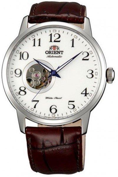 Reloj hombre automático Orient Esteem FDB08005W correa cuero dial blanco