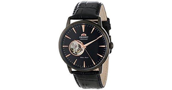 Reloj hombre automático Orient Esteem FDB08002B correa cuero dial negro