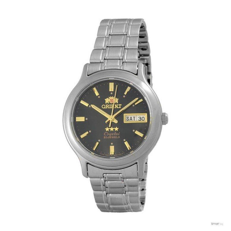 Reloj hombre automático Orient 3 Star FAB05005B NEGRO PLATA correa acero