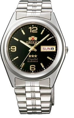 Reloj hombre automático Orient 3 Star FAB04004B NEGRO PLATA correa acero