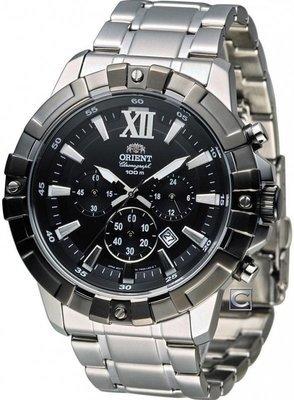 Reloj hombre Orient FTW03001B Sports Chrono acero inoxidable