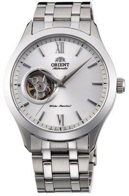 Reloj hombre automático Orient FAG03001W GOLDEN EYE Skeleton correa acero dial BLANCO