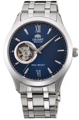 Reloj hombre automático Orient FAG03001D GOLDEN EYE Skeleton correa acero dial AZUL