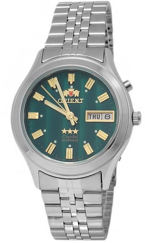 Reloj hombre automático Orient 3 Star FEM0301YF VERDE correa acero