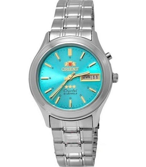 Reloj hombre automático Orient 3 Star FEM0301ZL AZUL correa acero