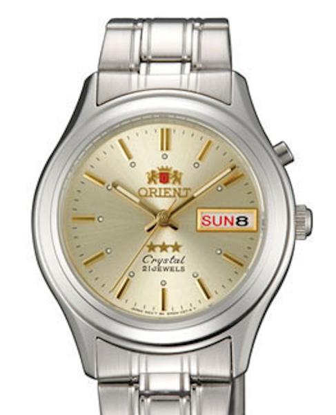 Reloj hombre automático Orient 3 Star FEM0301ZC DORADO correa acero