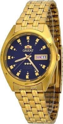 Reloj hombre automático ORIENT 3 STAR FAB00001D dorado azul marino