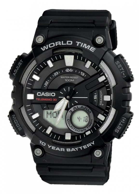 Reloj CASIO AEQ-110W-1A WORLDTIME 10 AÑOS BATERÍA