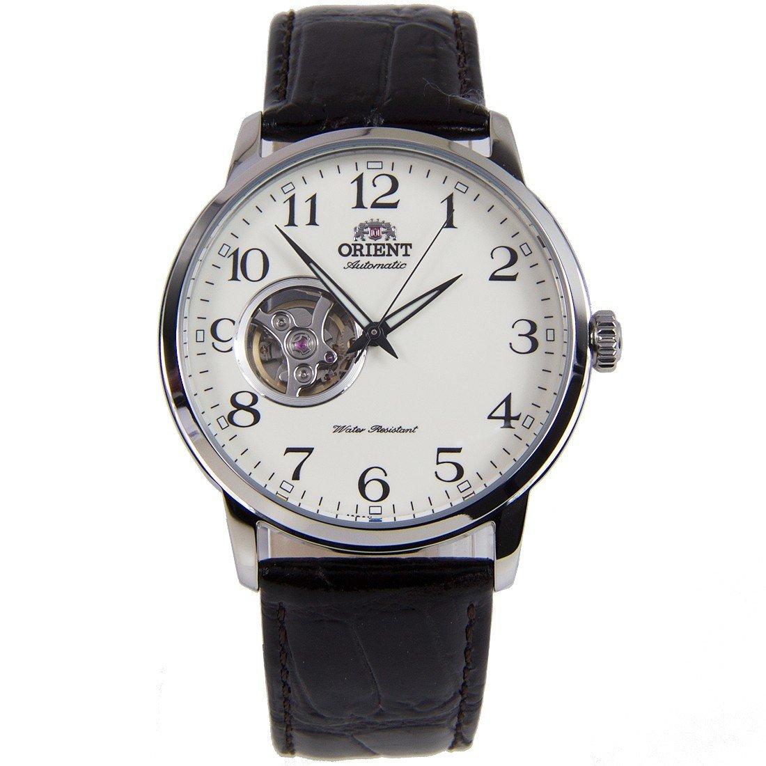 reloj hombre automático Orient Bambino RA-AG0010S Open Heart dial correa cuero