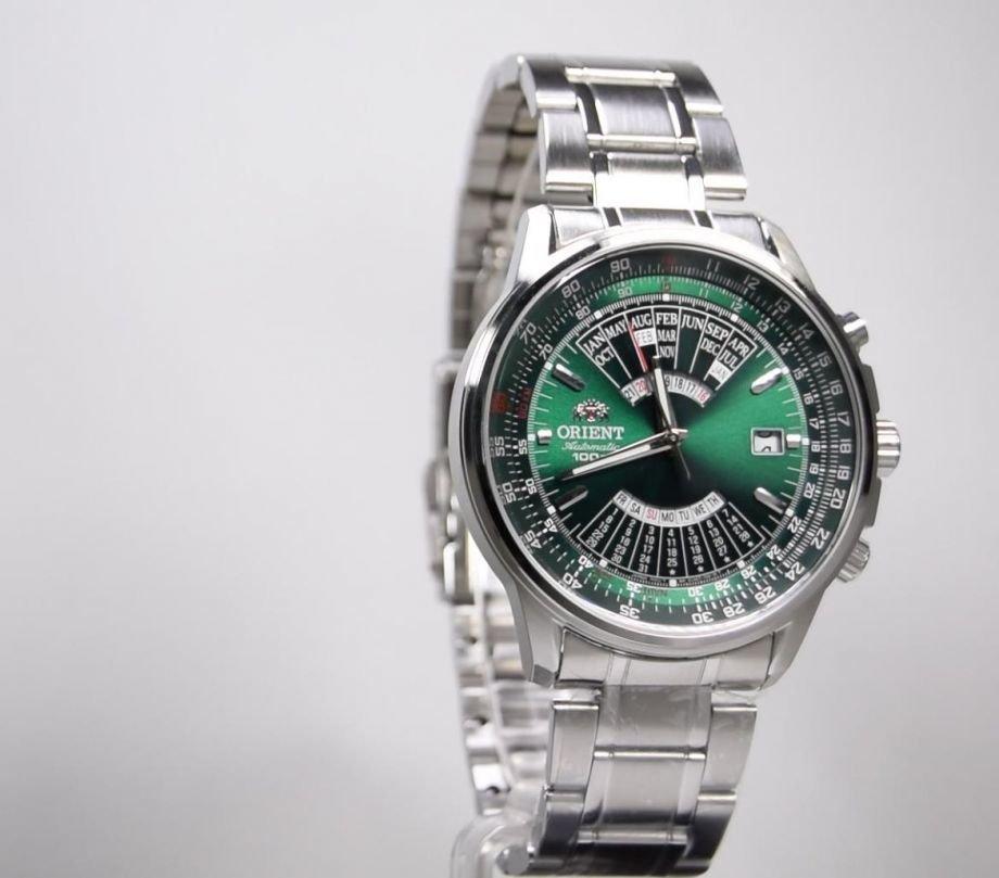 reloj hombre automático Orient multi-year FEU07007F dial verde correa acero