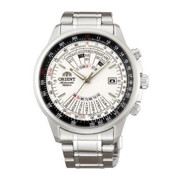 reloj hombre automático Orient multi-year FEU07005W dial blanco correa acero