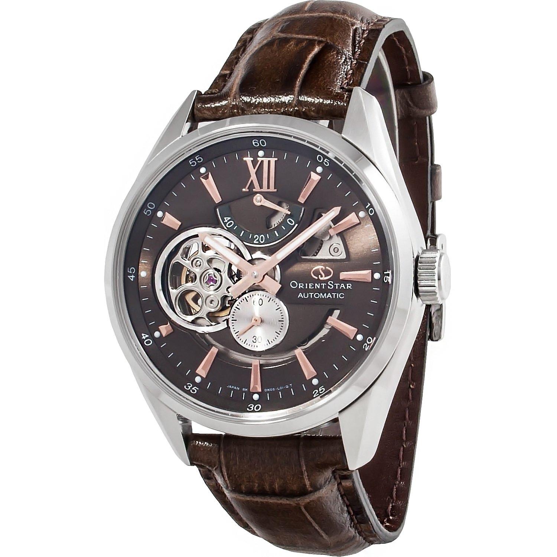 reloj hombre automático Orient Star SDK05004K Chocolate correa cuero cristal zafiro