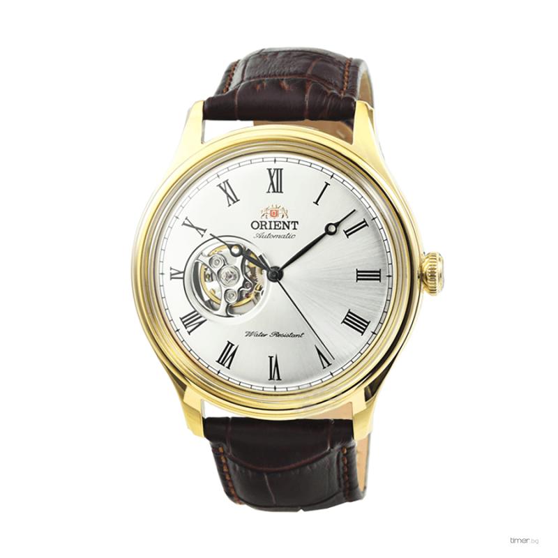 reloj hombre automático Orient FAG00002W Open Heart cuero