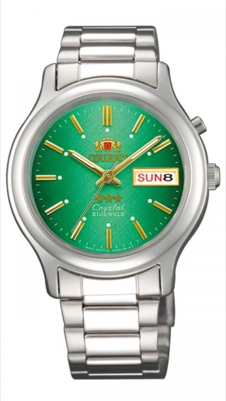 reloj hombre automático Orient Tristar FEM02021N verde acero