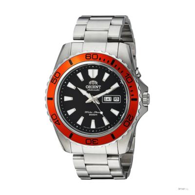 reloj hombre automático Orient Mako XL FEM75004B acero naranja negro