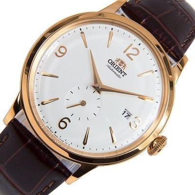 reloj hombre automático Orient Bambino RA-AP0001S oro rosa correa cuero