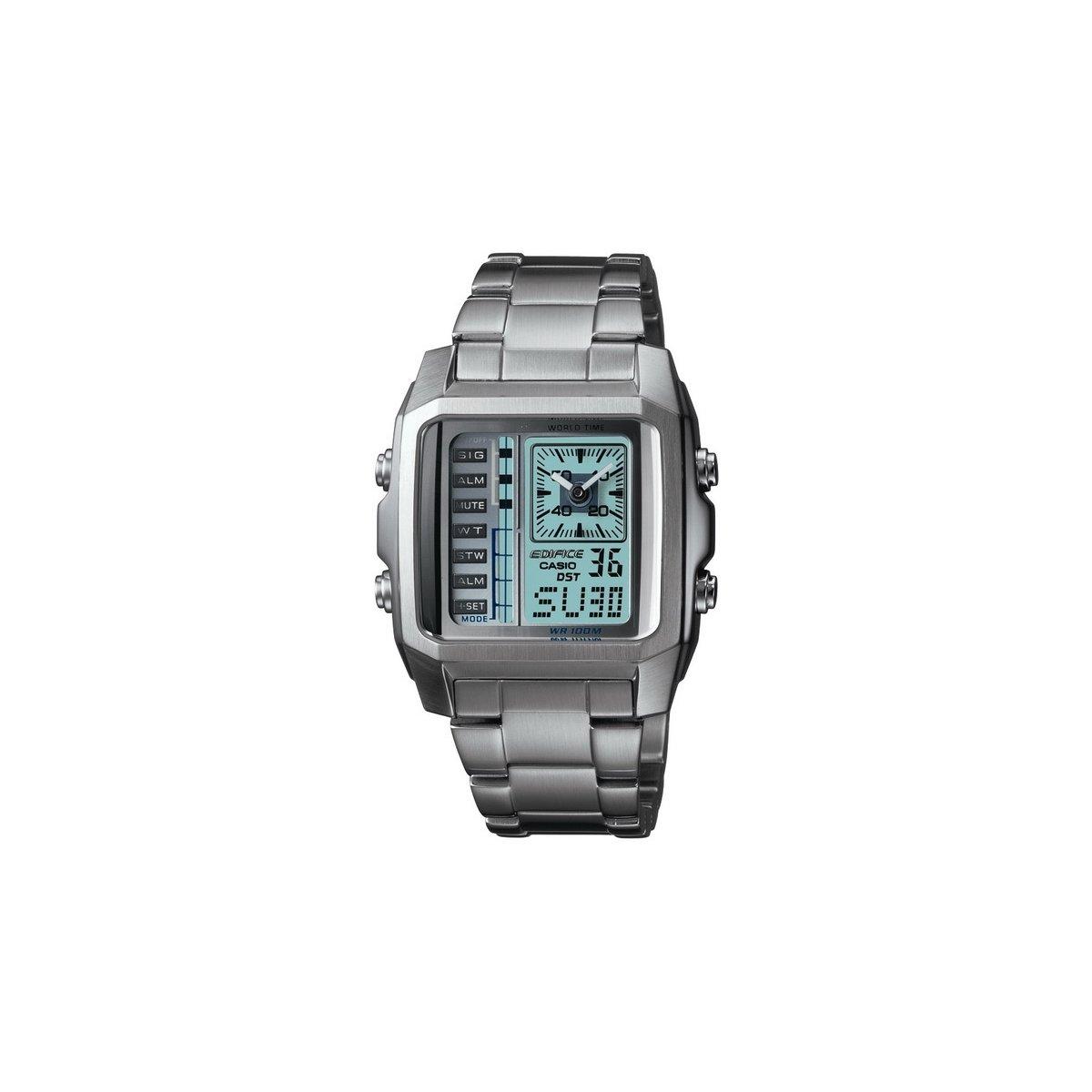 Reloj casio edifice efa-124d-7a cronografo multi - cristal anti scratch - hora mundial
