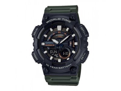 Reloj CASIO AEQ-110W-3AV WORLDTIME 10 AÑOS BATERÍA