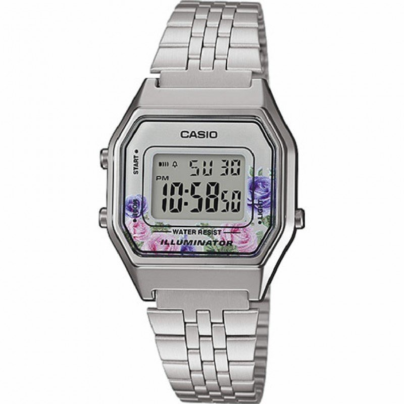 Reloj Casio Retro Digital LA680WEA-4C diseño especial FLORAL