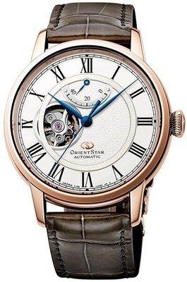 reloj hombre Orient Star RE-HH0003S00BW piel cocodrilo cristal zafiro