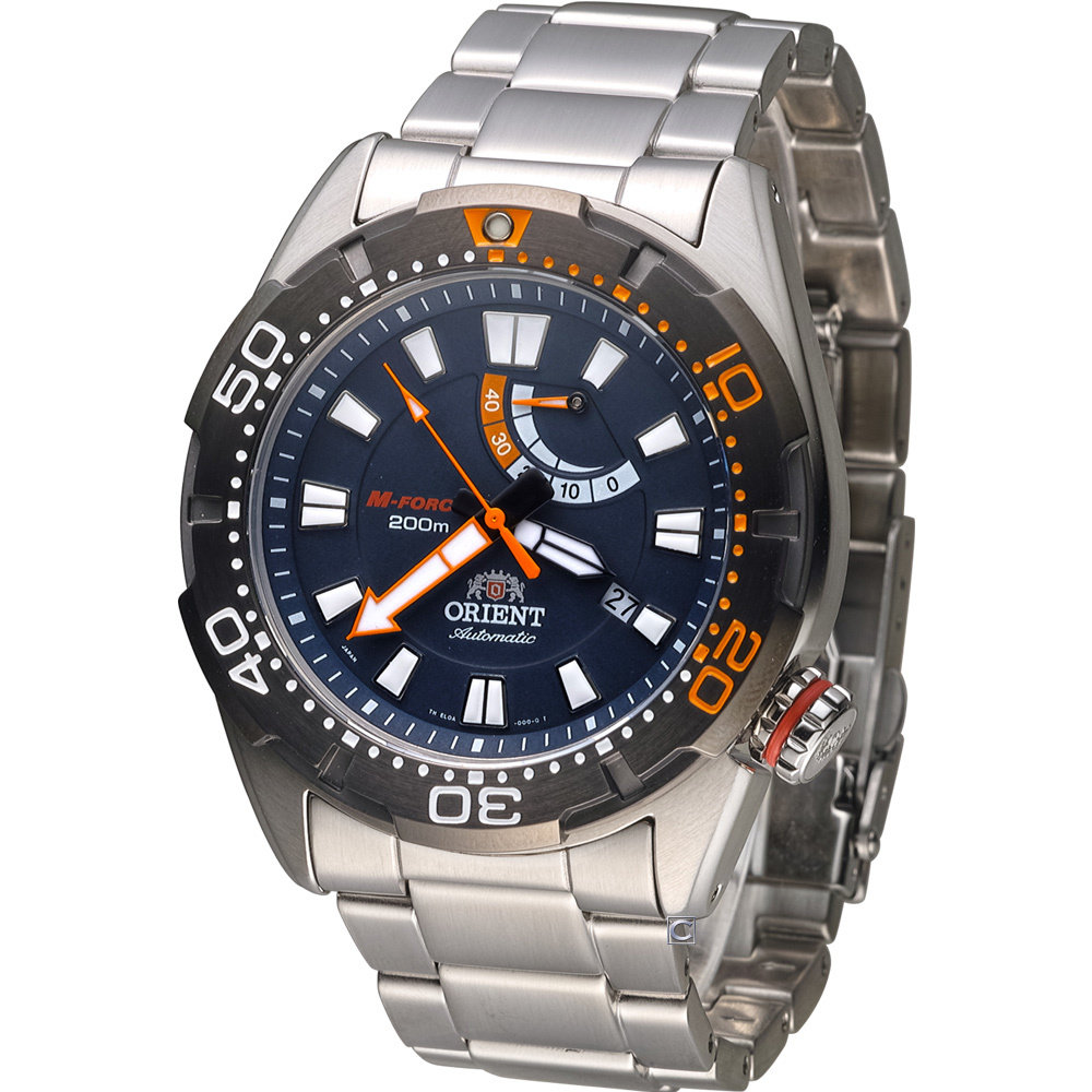 ORIENT M-FORCE SEL0A002D AUTOMATICO 200 METROS CRISTAL ZAFIRO