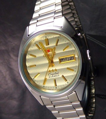 reloj hombre automático Orient Tristar FEM0401SC beige acero