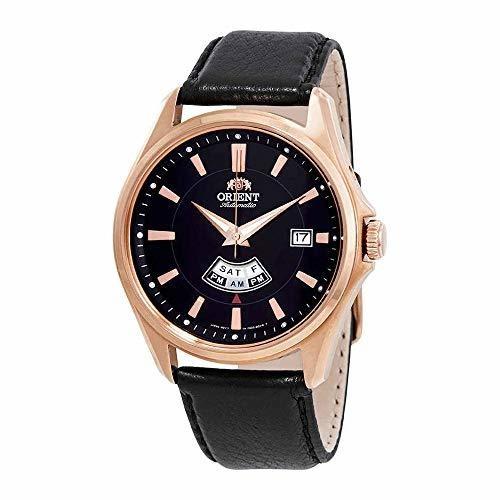 Reloj hombre automático ORIENT FFN02002b oro rosa - correo cuero