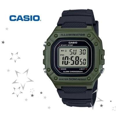 Reloj CASIO digital caballero W-218h-3av CASIO UNISEX