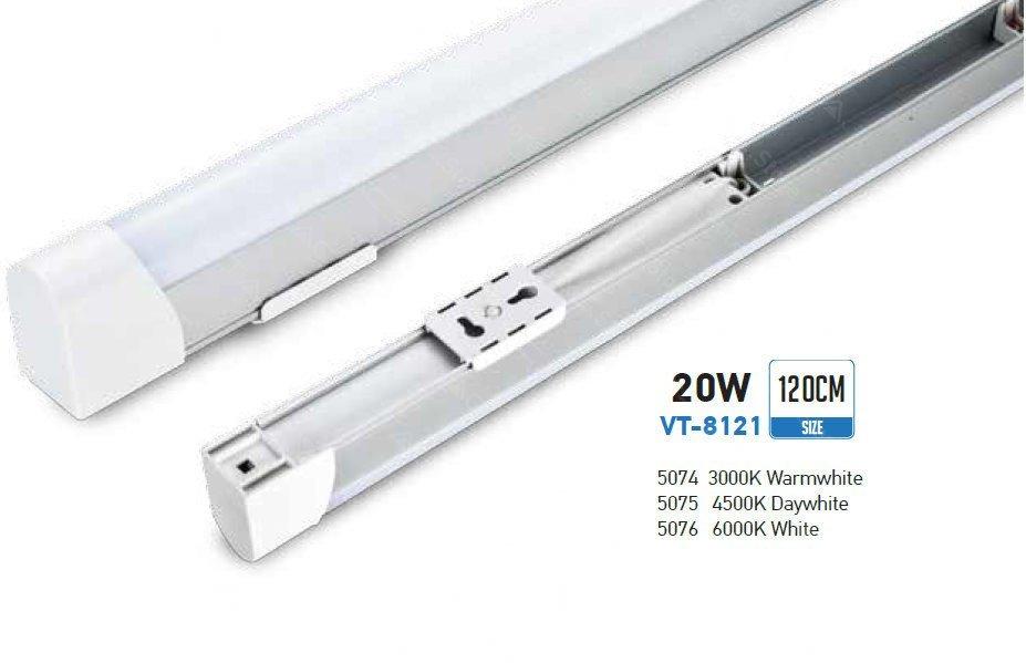 Plafoniere A Led 120 Cm : Plafoniere led con tubo vt 8121 20w 220v 6000k luce fredda sku