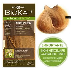 Biokap. Краска для волос (Delicato) тон 7.33 «Блондин золотистый пшеничный», 140 мл