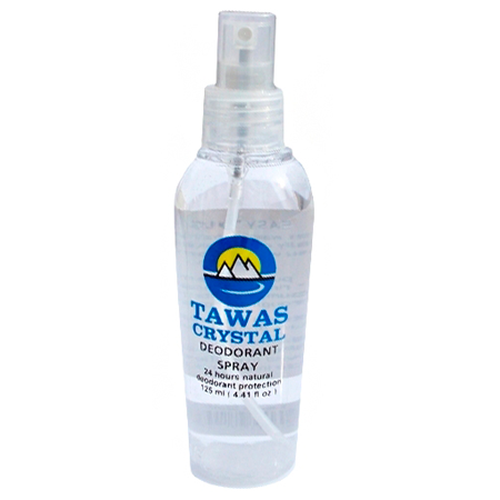 Tawas Crystal. Спрей с сухими гранулами 60 г в бутылочке 125 мл