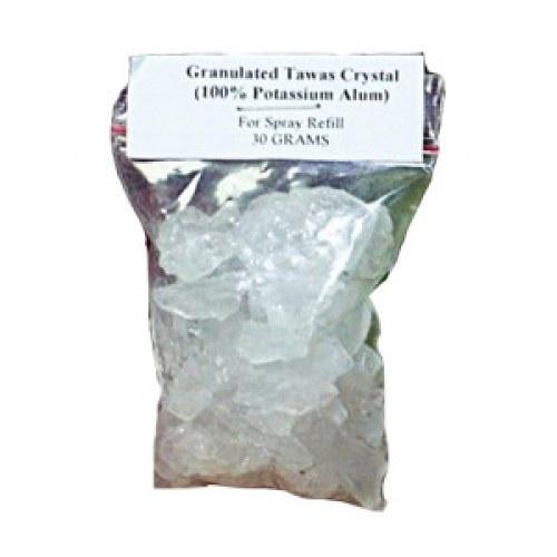 Tawas Crystal. Дополнительные гранулы для спрея в пластиковых пакетиках, 1 пакетик 30 г