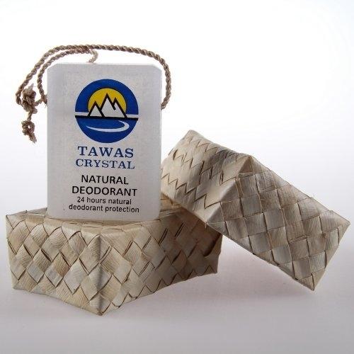 Tawas Crystal. Кристалл в брусках с глицерином в коробке из пальмы Бури, 125 г