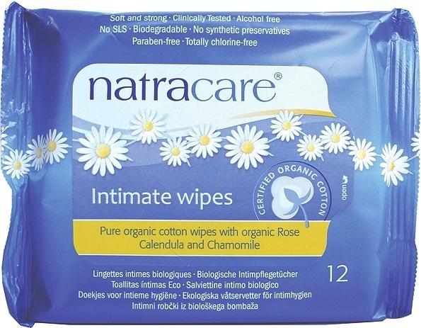 Natracare. Салфетки интимные из биохлопка, 12 шт.