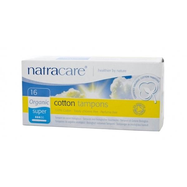Natracare. Тампоны super из натурального хлопка с аппликатором, 16 шт.