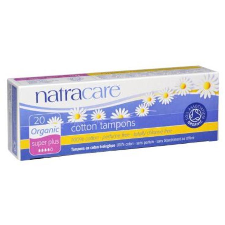 Natracare. Тампоны super-plus из натур.хлопка без аппликатора, 20 шт.