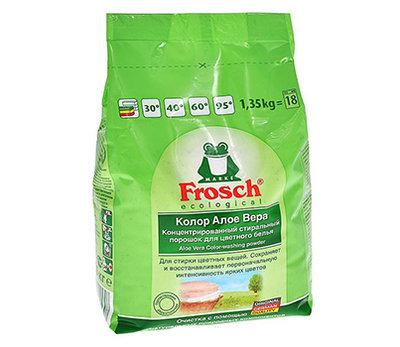 Frosch. Стиральный порошок «Колор алоэ вера» для цветного белья, 1.35 кг