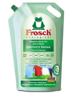 Frosch. Универсальное жидкое средство для стирки «Алоэ» (мягкая упаковка), 2 л