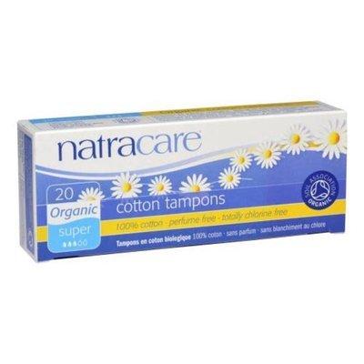 Natracare. Тампоны super из натуральногохлопка без аппликатора, 20 шт.
