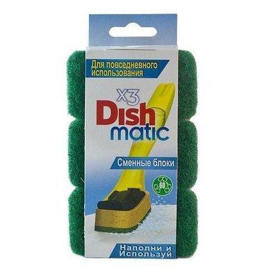 EasyDo. Сменный блок (зеленый) Dishmatic, 3 шт.