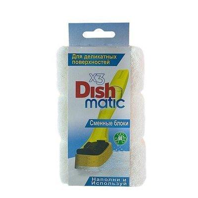 EasyDo. Сменный блок для деликатных поверхностей (белый) Dishmatic, 3 шт.