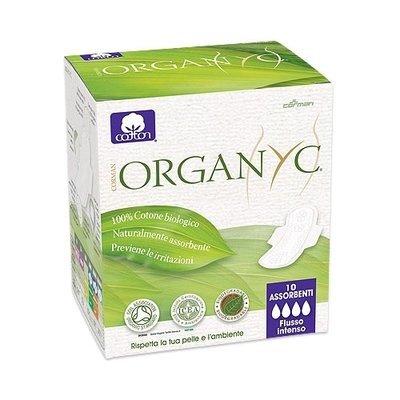 Organyc Прокладки с крылышками Ночные, ультратонкие 4 капли 10шт.