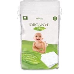 Organyc Детские ватные подушечки из органического хлопка, 60 шт.