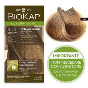 Biokap. Краска для волос (Delicato) тон 8.03 «Блондин натуральный светлый, 140 мл